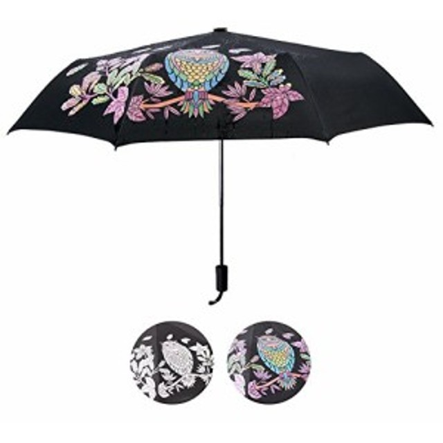 折り畳み傘 日傘 折りたたみ傘 軽量 耐風撥水 uvカット100%遮光遮熱 晴雨兼用 男女兼用 携帯に便利 旅行 (色の傘を変える)