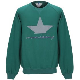 《期間限定セール開催中!》MACCHIA J メンズ スウェットシャツ エメラルドグリーン L コットン 100%