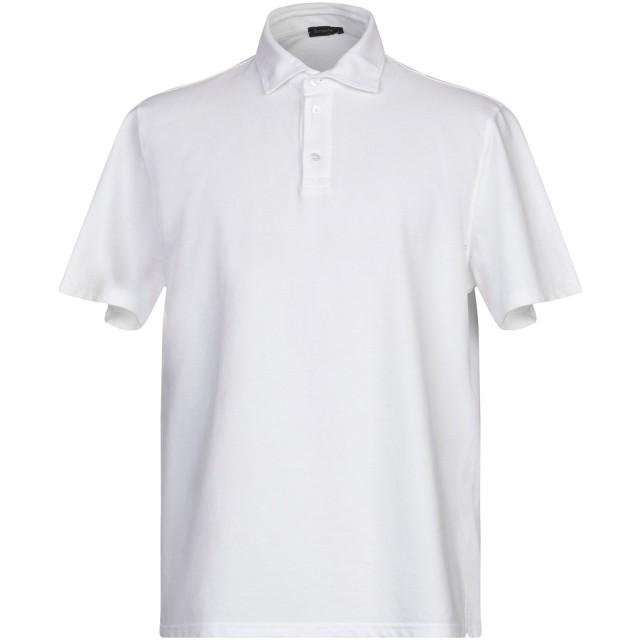 《セール開催中》FERRANTE メンズ ポロシャツ ホワイト 46 コットン 100%