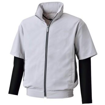 4930269362921 空調風神服 BK6059 半袖ジャケットコンプレッション袖 色:シルバーグレー サイズ:4L