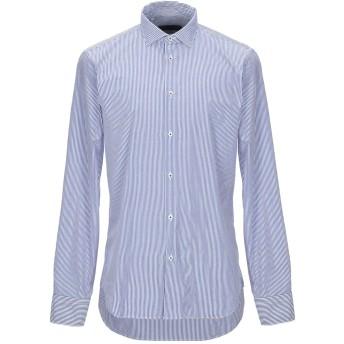 《セール開催中》MANUEL RITZ メンズ シャツ ダークブルー 45 コットン 100%