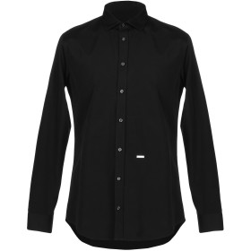 《期間限定 セール開催中》DSQUARED2 メンズ シャツ ブラック 52 コットン 100%