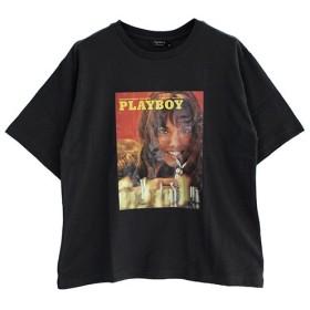 Janiss ジャニス PLAYBOYフォト半袖Tシャツ