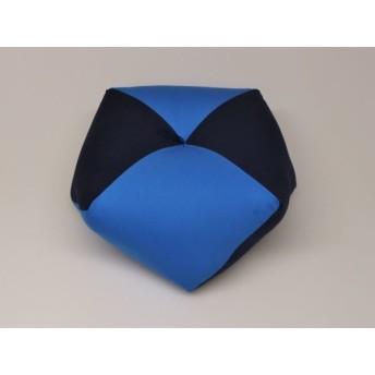 手作りあぐら座布団 おじゃみ(お手玉)の形をした可愛らしい座布団。 正座やあぐらで楽に座れます。上質な木綿わた使用し丁寧にお仕立てます。 無地コン/無地ブルー g850