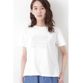 イラストプリントTシャツ シロ×グレーPT