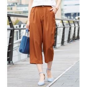 [接触冷感。吸汗速乾]Dカンベルトワイドパンツ (レディースパンツ),pants