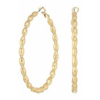 スティーブ マデン レディース ピアス・イヤリング アクセサリー Patterned Hoop In & Out Earrings Gold