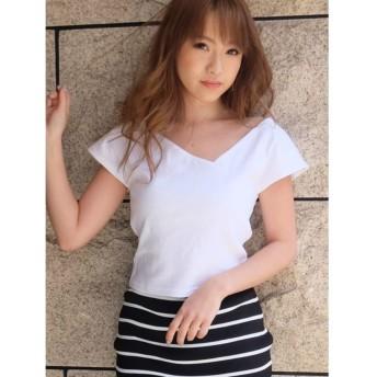リゼクシー アシメTシャツ レディース ホワイト F 【RESEXXY】