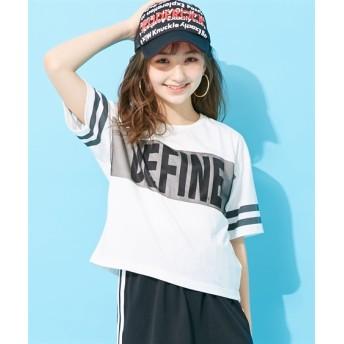 メッシュ胸切替Tシャツ(女の子 子供服。ジュニア服) Tシャツ・カットソー