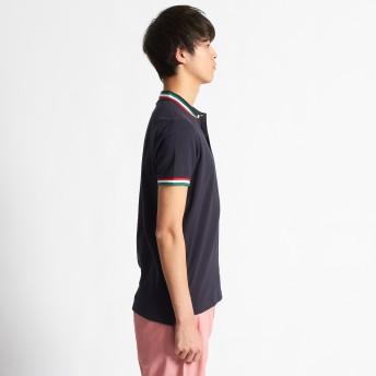 ポロシャツ - GIORDANO [WEB限定][GIORDANO]ライオン刺繍ラインポケットポロシャツ