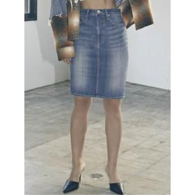 デニムスカート - GYDA BACKスリットデニムスカート