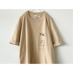 《送料無料》秋色ビッグTシャツ / THE / スモークベージュ