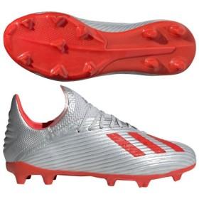 ジュニア エックス 19.1 FG J シルバーメット×ハイレゾレッドS18 【adidas アディダス】サッカージュニアスパイクf35683