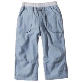 綿100% 裾折り返しても着用OK!ダンガリー6分丈パンツ(男の子 子供服。ジュニア服) パンツ