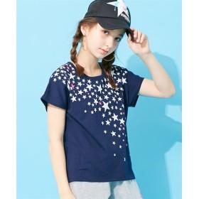 前後プリントTシャツ(女の子 子供服 ジュニア服) Tシャツ・カットソー