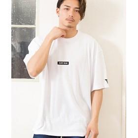 シルバーバレット CavariAデザインプリントビッグシルエットクルーネック半袖Tシャツ メンズ ホワイト系7 46(L) 【SILVER BULLET】
