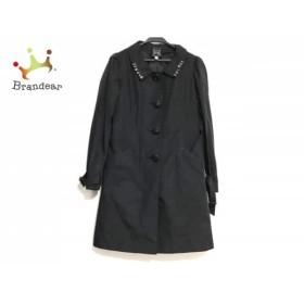 シンシアローリー CYNTHIA ROWLEY コート サイズ2 S レディース 美品 黒×ピンク ビジュー/冬物 新着 20190513