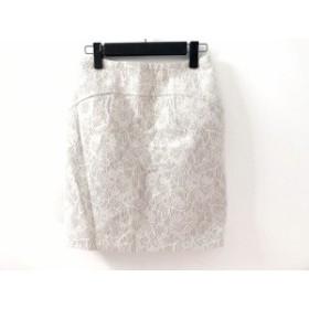 ジャスグリッティー JUSGLITTY スカート サイズ1 S レディース 美品 ベージュ レース/花柄【中古】