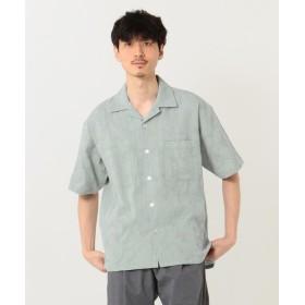【40%OFF】 シェアパーク ジャガードパナマオープンカラー シャツ メンズ スカイブルー系 1 【SHARE PARK】 【セール開催中】