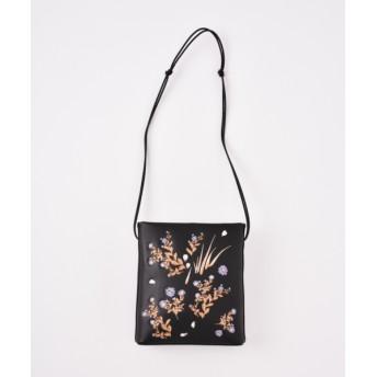 mame 【MAME】レザー刺繍バッグ BLACK F