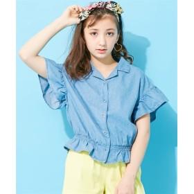 開襟スモックシャツ(女の子 子供服 ジュニア服) シャツ・ブラウス