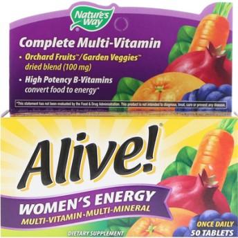 ネイチャーズウェイ, Alive!、Women's Energyマルチビタミン・マルチミネラル、50錠