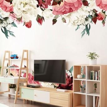ウォールステッカー ウォールシール シール式 花 フラワー バラ 植物 癒し 自然 壁シール 壁紙シール 壁面装飾 壁装飾 室内装飾 インテリア