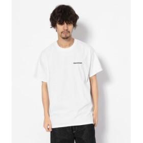 (BEAVER/ビーバー)MANASTASH/マナスタッシュ EMBROIDERY LOGO TEE 刺繍ワンポイントロゴTシャツ/メンズ WHITE