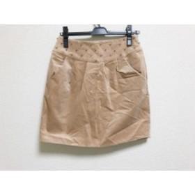 アプワイザーリッシェ Apuweiser-riche スカート サイズ2 M レディース 美品 ベージュ ビーズ【中古】