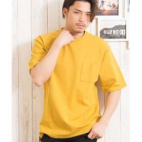 シルバーバレット CavariA無地ドロップショルダークルーネックTシャツ メンズ ライトイエロー 46(L) 【SILVER BULLET】