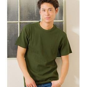シルバーバレット CavariAネックが選べるスパンテレコ半袖Tシャツ メンズ カーキ系1 44(M) 【SILVER BULLET】