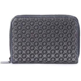ヒロコ ハヤシ HIROKO HAYASHI ◆GIRASOLE(ジラソーレ)ファスナー式二つ折り財布 (ブラック)