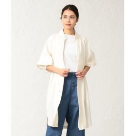(SANYO COAT/サンヨーコート)<BLUEFLAG>和紙キュプラツイルシャツコート/レディース オフホワイト 送料無料