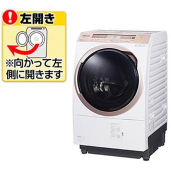 パナソニック【左開き】11.0kgドラム式洗濯乾燥機KuaL クリスタルホワイトNA-VX5E6L-W