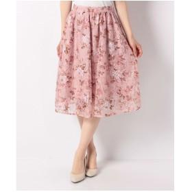 PATTERN fiona フラワープリントレーススカート(ピンク)【返品不可商品】