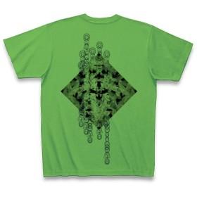 有効的異常症候群鶴◆アート文字◆ロゴ◆ヘビーウェイト◆半袖◆Tシャツ◆ブライトグリーン◆各サイズ選択可