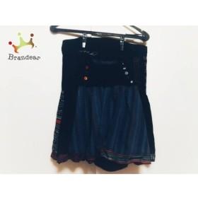デシグアル Desigual スカート サイズ36 M レディース 黒×マルチ     スペシャル特価 20190906