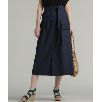 MAYSON GREY / メイソングレイ 【socolla】BIGポケット付きフロントスリットスカート