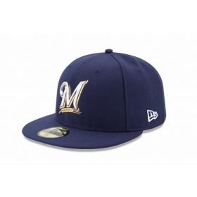 ニューエラ(NEW ERA) 59FIFTY MLB オンフィールド ミルウォーキー・ブルワーズ ゲーム 11449362