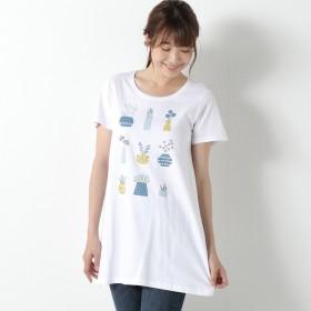 毎日着たい◎10柄展開プリントチュニックTシャツ