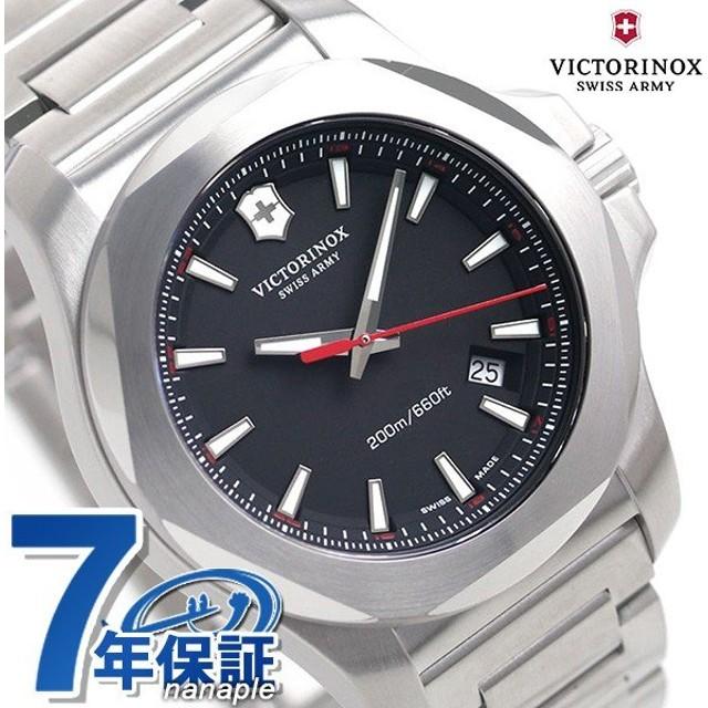 本日さらに+4倍でポイント最大30倍! ビクトリノックス 時計 イノックス メンズ 腕時計 241723.1 VICTORINOX ブラック
