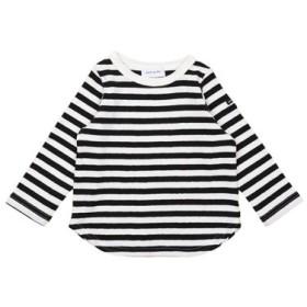 (COMECHATTO & CLOSET/カムチャットアンドクロゼット)16/- ボーダーテンジク 長袖 Tシャツ/レディース ブラック