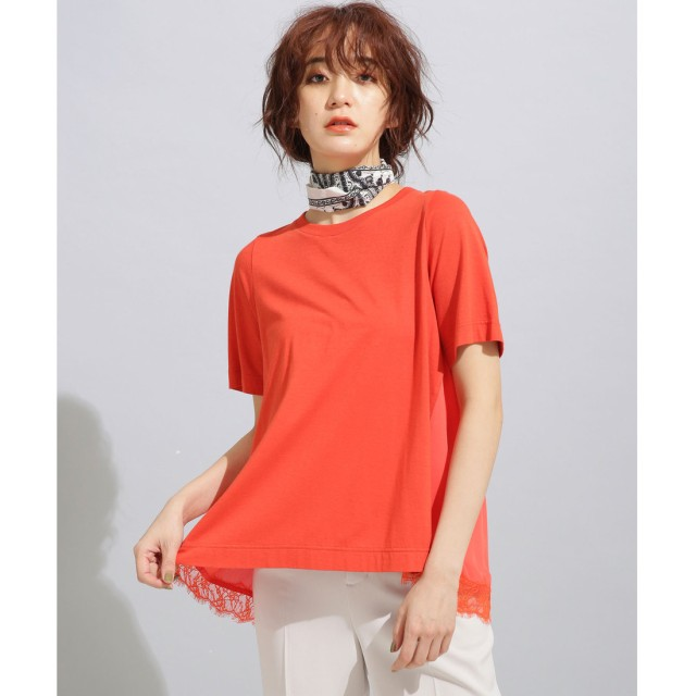nano・universe MUVEIL WORK×AntiSoaked裾レースTシャツ(シュアカ)【返品不可商品】