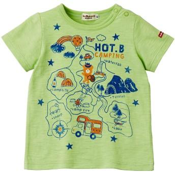 ミキハウス 【アウトレット】HOT-Bキャンピング 半袖Tシャツ ライトグリーン