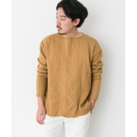 【30%OFF】 アーバンリサーチサニーレーベル CAL O LINE CUT OFF CALBLE LONG SLEEVE T SHIRTS メンズ LIGHTBROWN M 【URBAN RESEARCH Sonny Label】 【セール開催中】