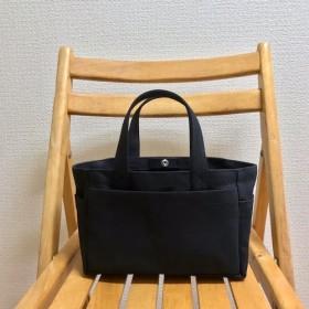 「ボックストート」ミニサイズ 「ブラック(黒)」帆布トートバッグ 倉敷帆布8号【受注制作】