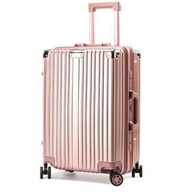 4013262566 LNMLAN スーツケース アルミニウムマグネシウムフレーム 機内持ち込みスーツケース キャリーバッグ 静音キャスター 360°