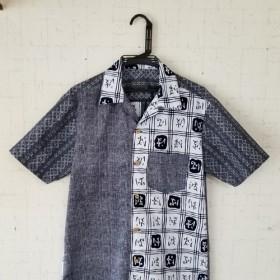 浴衣リメイク 紳士シャツ