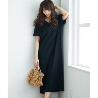 ワッフルVネックワンピース (ワンピース),dress