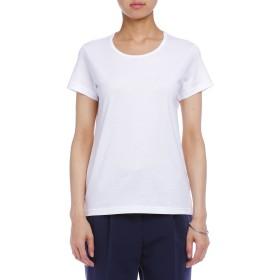 【67%OFF】60/2 半袖 クルーネック Tシャツ ホワイト 34